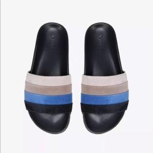 NWT Vince Alisa Striped Slide Sandal
